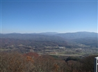 Buffalo Mountain (Pinnacle) Fire Tower | Overlooking the town of Unicoi.