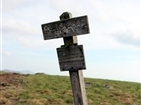 Roan Mountain Round Bald | Marker atop Round Bald indicating the 5,826 ft elevation