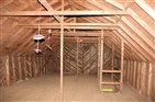 Overmountain Shelter | Upstairs area of the shelter/barn