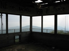 Buffalo Mountain (Pinnacle) Fire Tower | Inside the building at the top of the fire tower before it was remodeled.