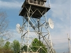 Buffalo Mountain (Pinnacle) Fire Tower | The fire tower before it was remodeled.